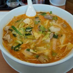 モツ野菜ラーメン(ピリ辛レベル1)