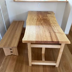 栃一枚板テーブル納品しました☆浜松市☆
