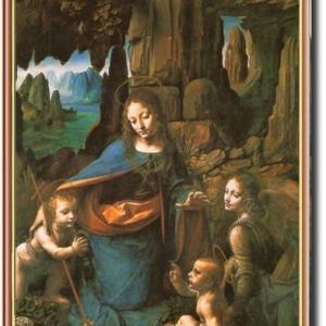 祈り レオナルドダヴィンチ 岩窟の聖母