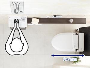 タンクレストイレの最小寸法