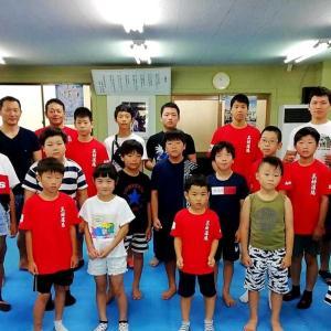 今日から1泊2日、高知県立のいち青少年センターで「2019三好道場夏季合宿」