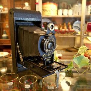 アンティーク蛇腹カメラ(フォールディングカメラ) Brownie/ブローニー オートグラフィック