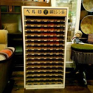 昭和レトロな『ベル印 絹ミシン糸』の木製糸ケース