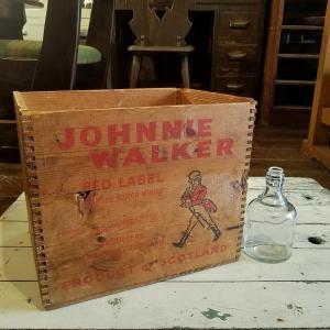 UKヴィンテージ ジョニーウォーカーの木箱