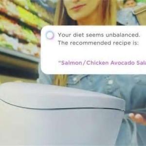 「食事が偏っています」トイレが健康アドバイス TOTO。