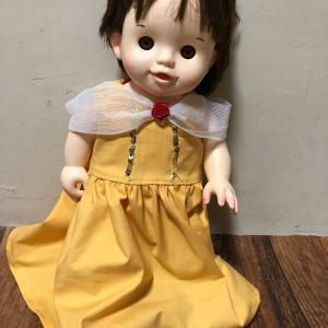 無料型紙でぽぽちゃん ベル風ドレス