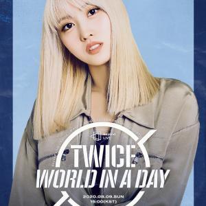 200724 モモ『TWICEオンラインコンサート World in A Day』ポスター画像