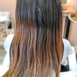 伸びにくい、染まりにくい人への縮毛矯正+カラー(同時進行)
