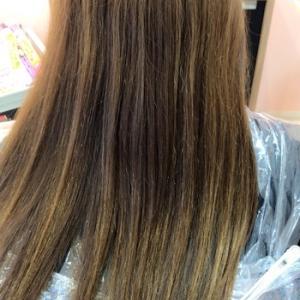 髪質改善トリートメントしたのに傷んだという悩みのお客様の縮毛矯正