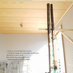 敷目天井に黒竹・・・うん、素敵♪とはじめましてのご対面