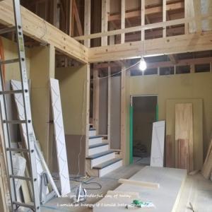 階段が組まれてる!!と床が・・・現場のこと♪