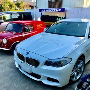 BMW 出張即日車につけたままホイールリペア(千葉市若葉区H様)