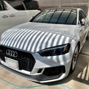 Audi RS5 出張即日車につけたままホイールリペア(千葉市稲毛区M様)