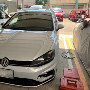 VWゴルフR 出張即日車につけたままホイールリペア(東京都板橋区O様)