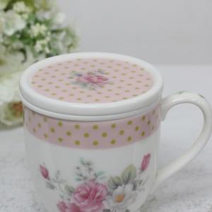 体験レッスン作品【茶こし付マグカップ】