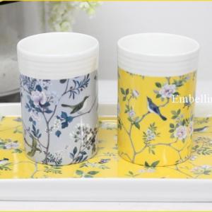 フレンチシノワズリデザインのカップセット