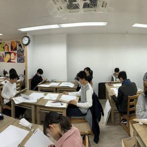 春ゼミ_今日からはデザイン演習1です。岡山の名門画塾グランガルル