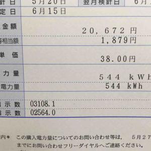 物件9号の太陽光発電5月