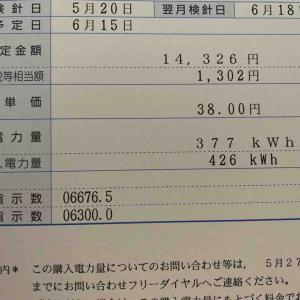 物件9号太陽光発電5月の売電
