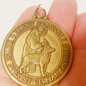 愛犬ザビ:4代目St.Francisのお守りメダルペンダント