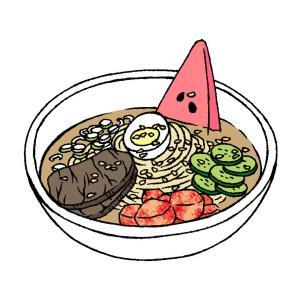 盛岡冷麺のイラスト