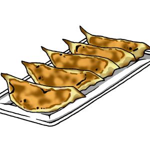 焼餃子のイラスト