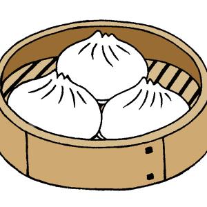 せいろに入った中華まんのイラスト