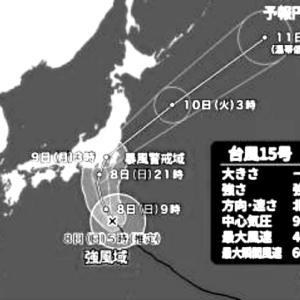 台風15号 朝の出勤模様