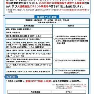 大規模施設等向け福岡県感染拡大防止協力金