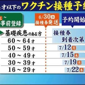 福岡市64歳以下のワクチン接種券を6月30日に発送