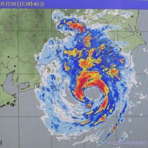 台風15号の通過と残暑のあとのあかね空(埼玉・所沢)