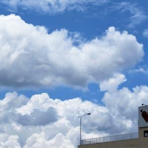 梅雨の晴れ間に見上げる雲の表情
