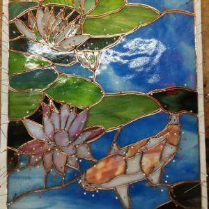 水色の綺麗なガラス