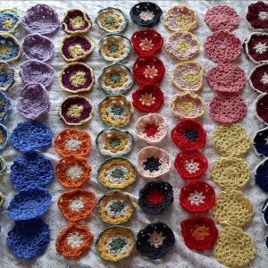 毛糸のモチーフ編み