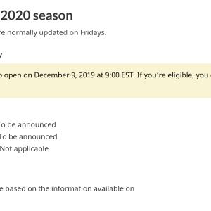 2020年度の、カナダのワーキングホリデー応募開始は、12月9日(月)から始まります。