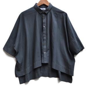 ペルー綿のカジュアルワイド半袖シャツ / FACTORY