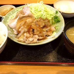 金曜日の生姜焼き定食