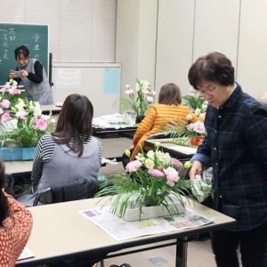 市民講座(いけばな)→芳寿司(義母とランチ)