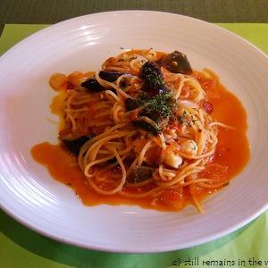 KMT なすと貝柱のトマトソース