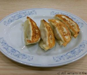 満洲の玄米チャーハンと餃子