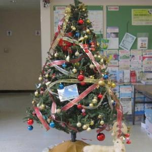 公民館のクリスマスツリー、2020。