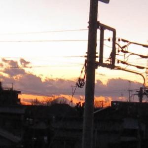 2021年元旦の夕方の富士山