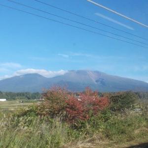 初秋の信州小諸旅(1);浅間山を仰ぎ見ながら小諸へ