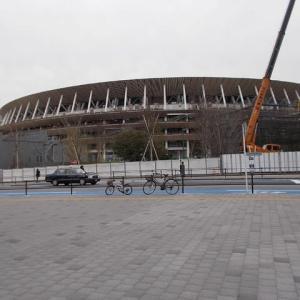 東京の知らない街をブラリ旅;信濃町駅から原宿駅へ(1);新国立競技場