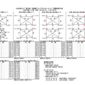 11/16.17.23.24 JA共済カップ那覇地区大会 要項・対戦表