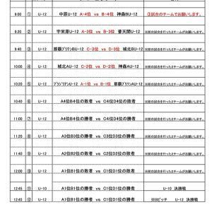 第3回ビーチサッカー沖縄カップ 2日目日程・連絡事項