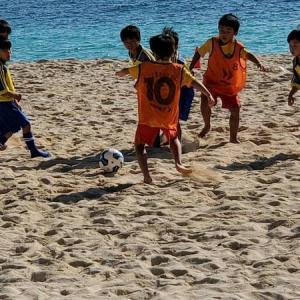 第3回ビーチサッカー沖縄カップ U-8 祝・優勝