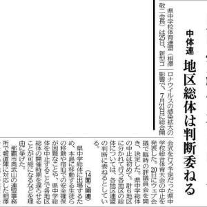 中体連県大会中止
