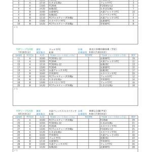 7/12〜10/3 JFA U-12サッカーリーグ(沖縄県TOPリーグ)対戦表(PDF版)