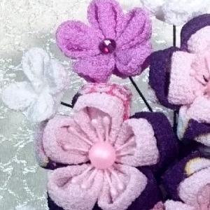 日本の色、江戸紫を使って・・・